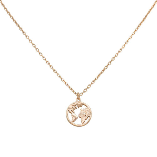 #GLOBE COLLIER EN OR ROSE