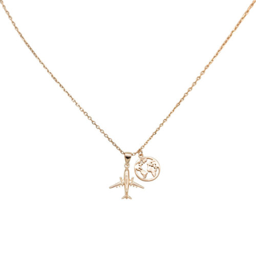 #TRAVELTHEWORLD COLLIER EN OR ROSE
