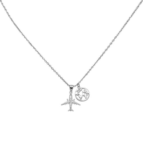 #TRAVELTHEWORLD COLLIER EN ARGENT