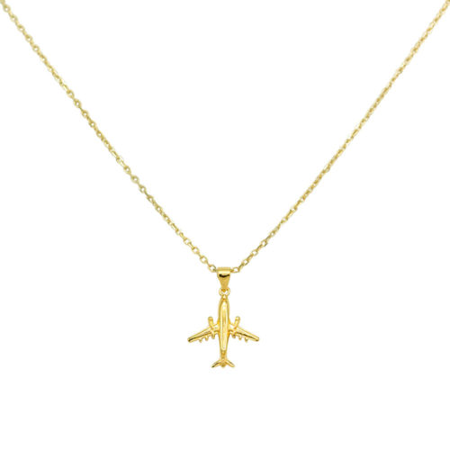 #JETLINER COLLIER EN OR ROSE