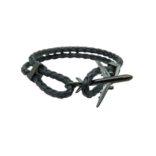 #GO-AROUND BRACELET EN CUIR NOIR