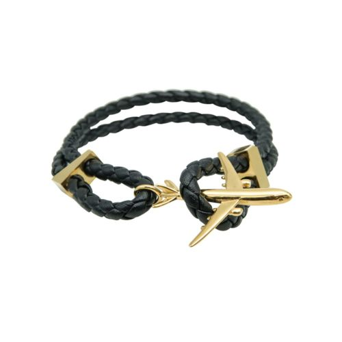 #GO-AROUND BRACELET EN CUIR DORÉ