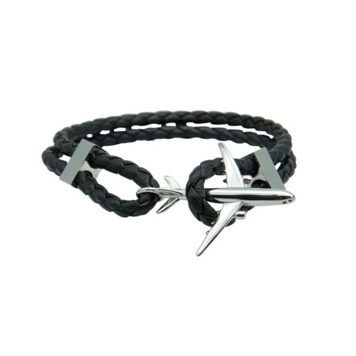 #GO-AROUND BRACELET EN CUIR ARGANTÉ