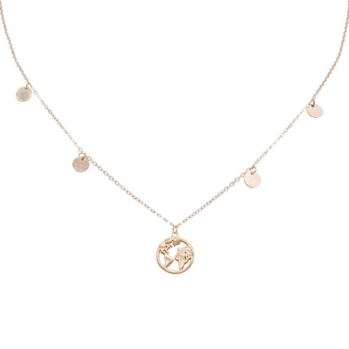#GLOBETROTTER COLLIER EN OR ROSE